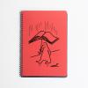 Libreta tamaño cuartilla A5 paraguas-libro