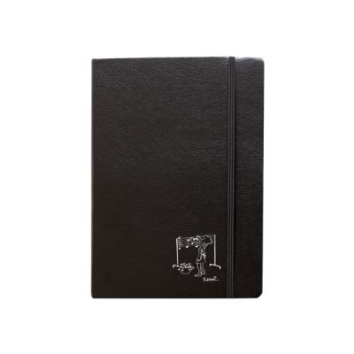 Libreta goma negra A6 figura tendiendo notas