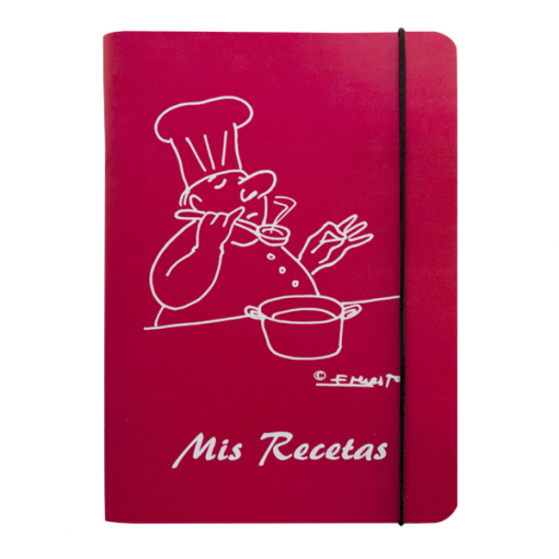libro recetas cocinero color fresa