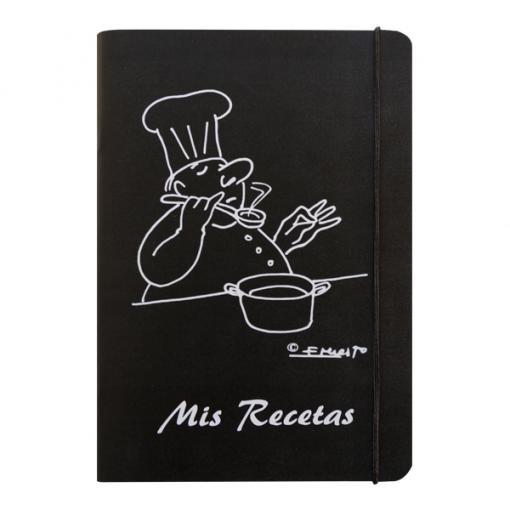 libro recetas cocinero color negro