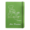 libreta recetas cocinero color verde