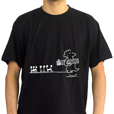 Camiseta hombre pentagrama