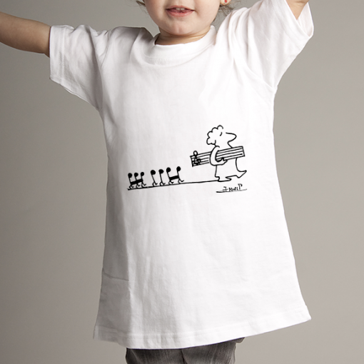 Camiseta niñ@ pentagrama