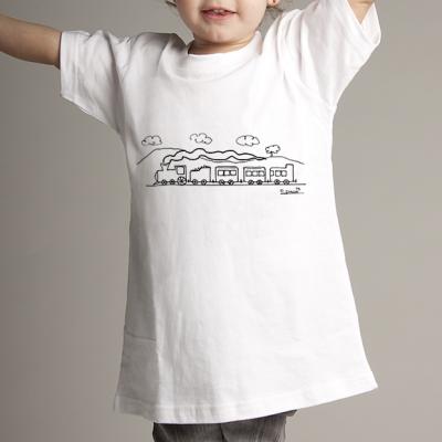 Camiseta niñ@ paisaje y tren