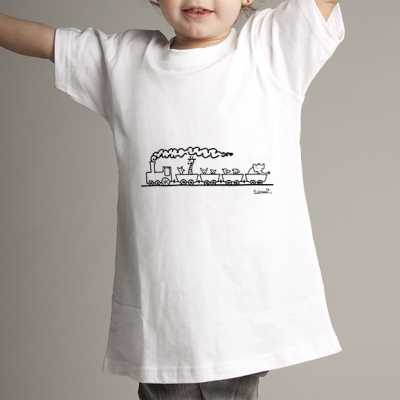 Camiseta niñ@ tren de animales