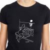camiseta mujer y la luna