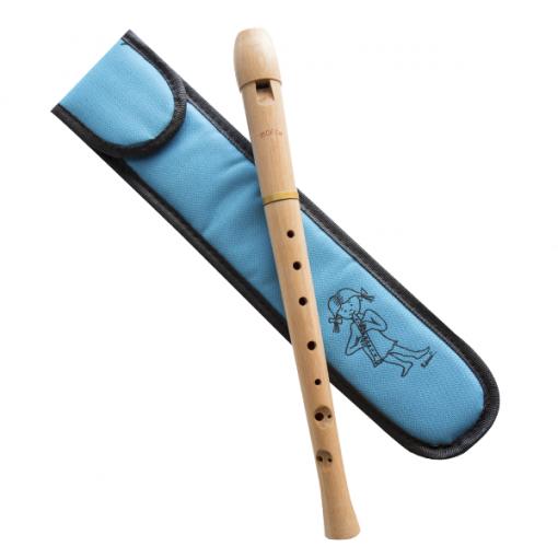 Funda flauta pico azul celeste niña